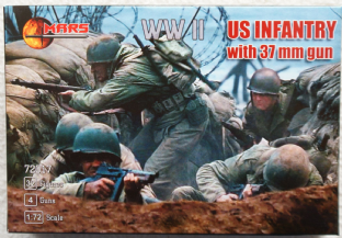 Mars 1/72 MAR72017 US Infantry with 37mm AT Guns (WW2)